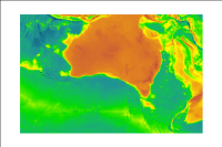 The Australian Bathymetry and Topography web service includes the topography of Australia and the bathymetry of the adjoining Australian Exclusive Economic Zone. The area selected does not include data from Australia's marine jurisdiction offshore from the Territory of Heard and McDonald Islands and the Australian Antarctic Territory. The 2009 bathymetry data were compiled by Geoscience Australia from multibeam and single beam data, and along wit...