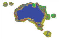 The Geomorphic Features of Australia¬タルs Marine Jurisdiction web service brings together various datasets produced by Geoscience Australia that describe the distribution and types of geomorphic features found on the seabed of Australia¬タルs marine jurisdiction. This jurisdiction covers Australia¬タルs Exclusive Economic Zone, including offshore islands and territories. Geomorphic features have been identified using the best available bathymetric data with...